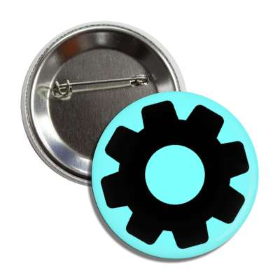 cog aqua black button