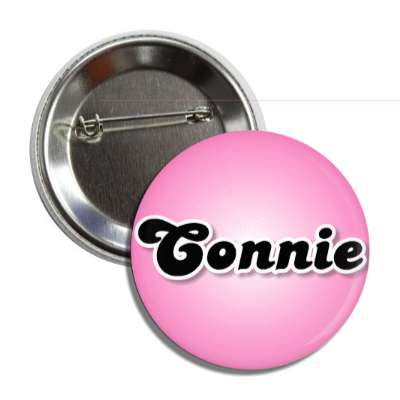 connie female name pink button
