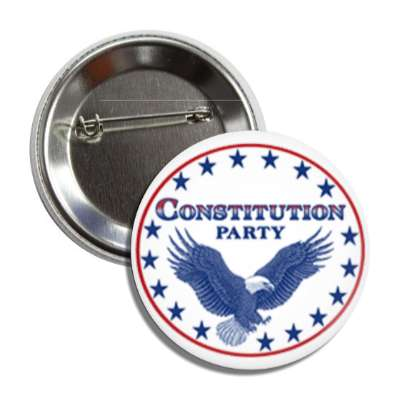 constitution party eagle blue button