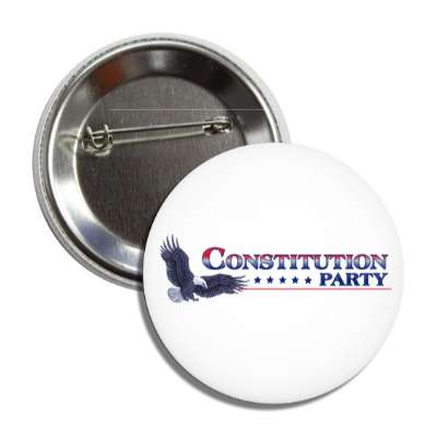 constitution party eagle white button