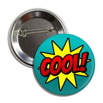 cool student motivation burst teal button