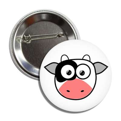cow cute cartoon button