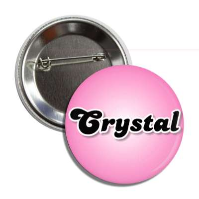 crystal female name pink button