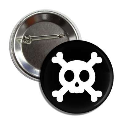 cute skull and crossbones button