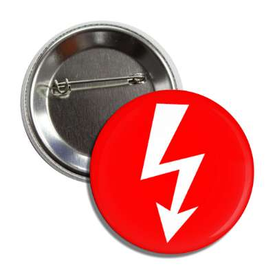 danger arrow red white button