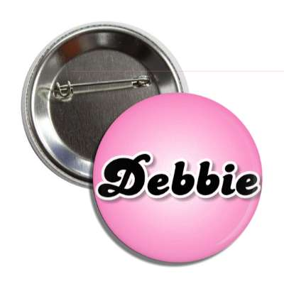 debbie female name pink button
