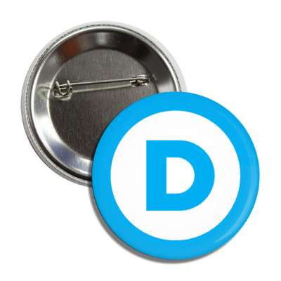 democrat blue border button