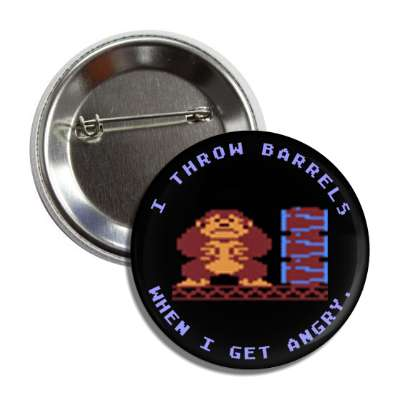 donkey kong i throw barrels when i get angry button