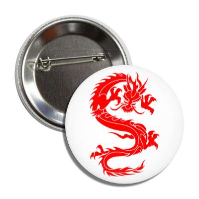 dragon white red chinese button