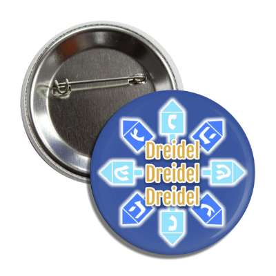 dreidel border hebrew letters blue button