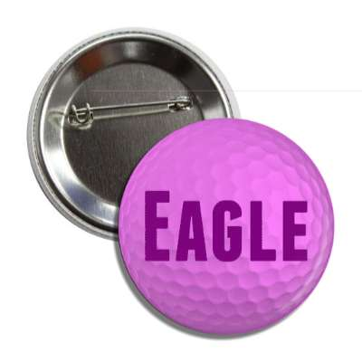 eagle purple golfball button