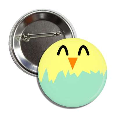 easter egg chick green button