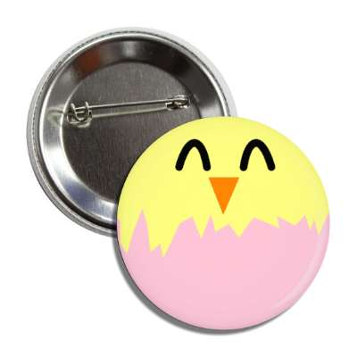 easter egg chick pink button