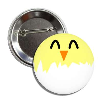 easter egg chick white button