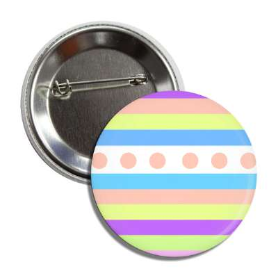 easter egg design lines dots multi pastel button