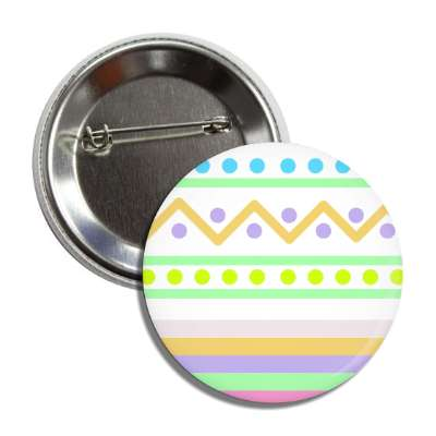 easter egg design zig zag dots multi button