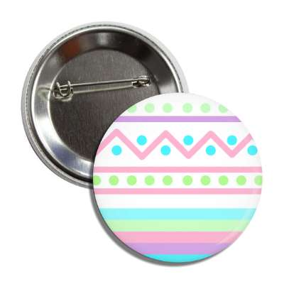easter egg design zig zag dots pinks multi button