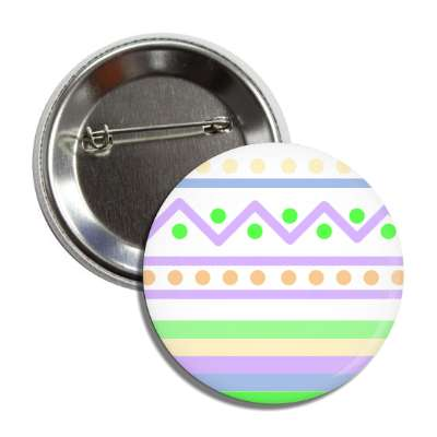 easter egg design zig zag dots purples multi button
