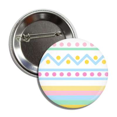 easter egg design zig zag dots white button