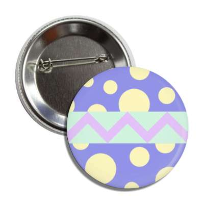 easter egg design zig zag polka dots blue button