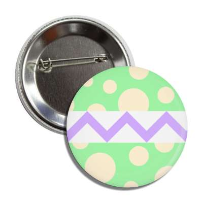 easter egg design zig zag polka dots green button