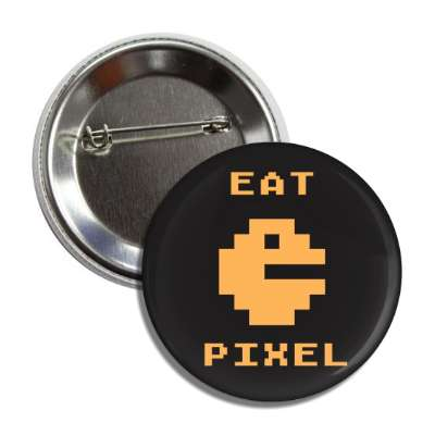 eat pixel pac man button