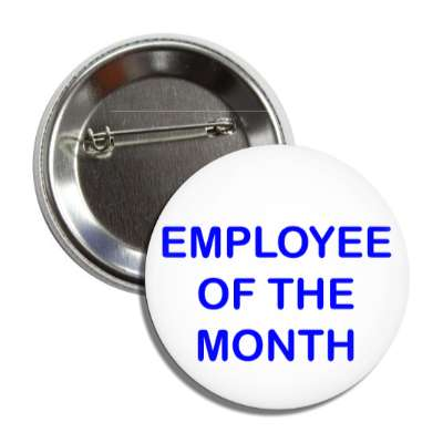 employee of the month blue button