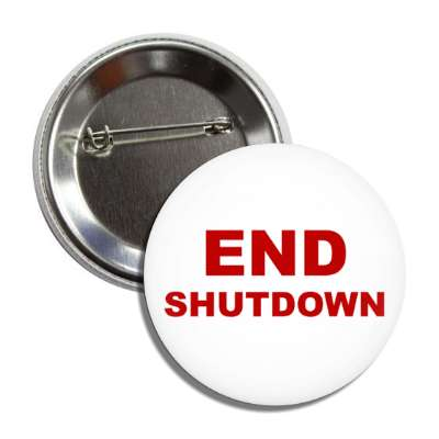 end shutdown white button