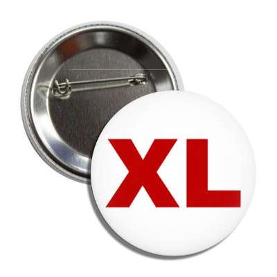 extra large xl clothing size button