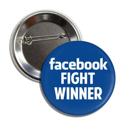 facebook fight winner blue white button