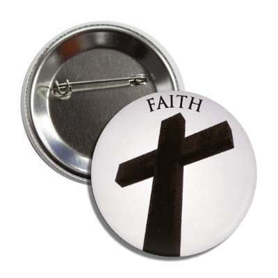 faith cross button