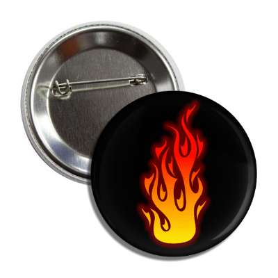 flame black orange red button