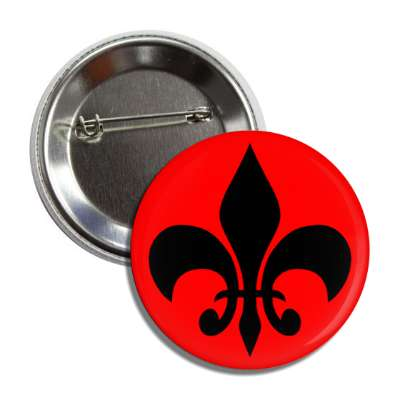 fleur de lis red black button