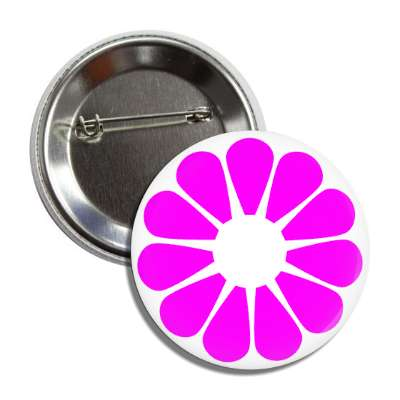 flower magenta white button