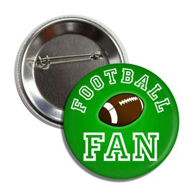 football fan green button