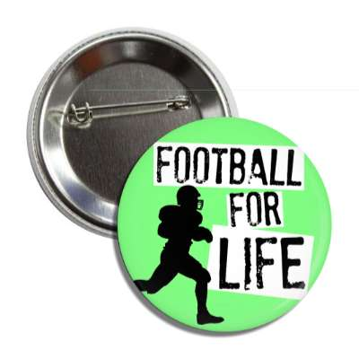 football for life player silhouette button