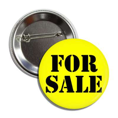 for sale stencil yellow button