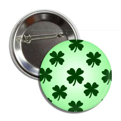 four leaf clover light green button