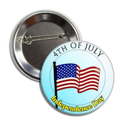 fourth of july independence day american flag aqua button