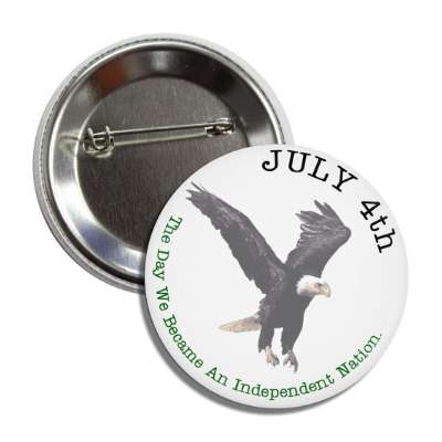fourth of july independence day eagle white button