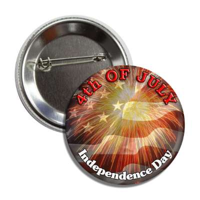 fourth of july independence day flag fireworks button