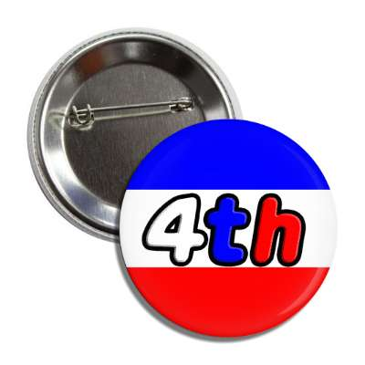 fourth of july independence day red white blue button