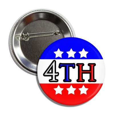 fourth of july red white blue stars 4th button