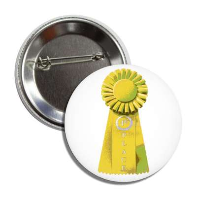 fourth place ribbon yellow button