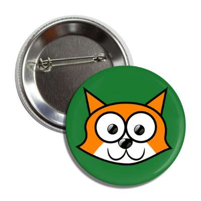 fox cute cartoon button