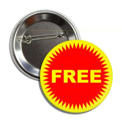 free red burst yellow pricetag button