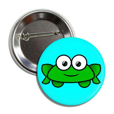 frog cute cartoon button