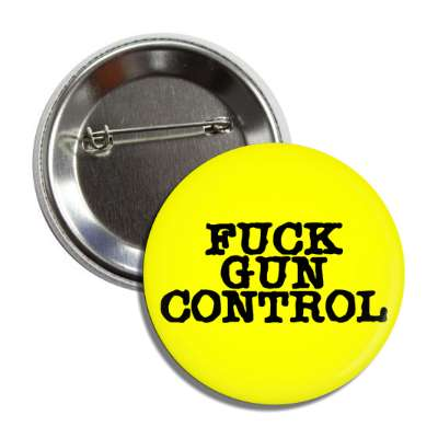 fuck gun control yellow typewriter button