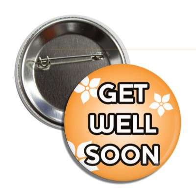 get well soon peach button
