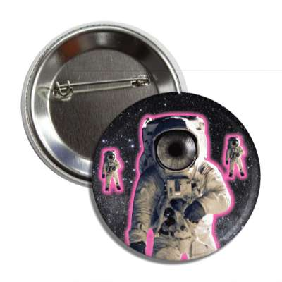 glowing pink eye astronauts button